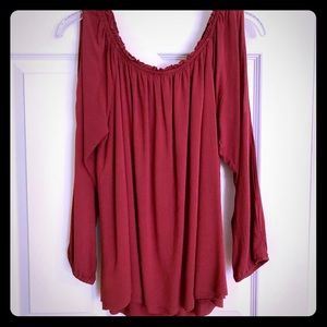 Sanctuary cold shoulder blouse